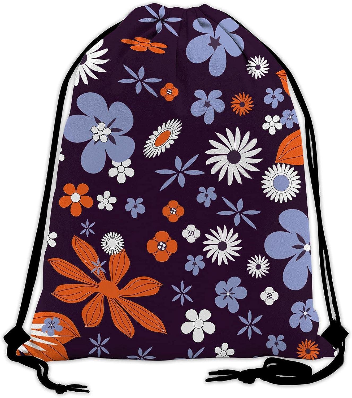 5 ☆ popular Flower Drawstring Large discharge sale Backpack Bag G Size Sport