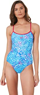 Speedo Women's Tie Back High Leg One Piece Nylon Elastane