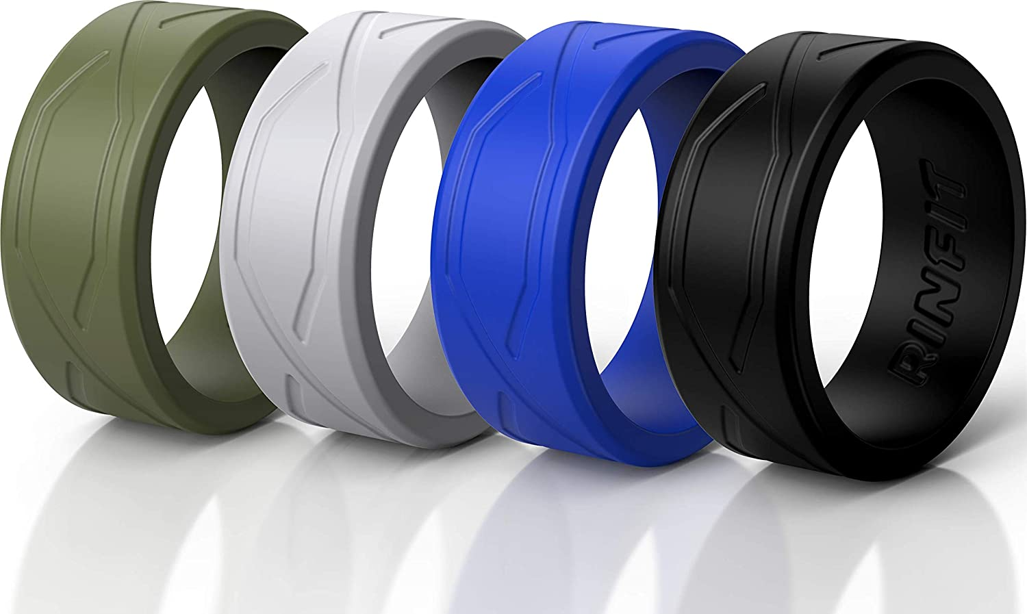 Rinfit Silicone Wedding Rings for Men Women - 1 Bands 6 5 4 Pa Max 87% OFF Manufacturer regenerated product