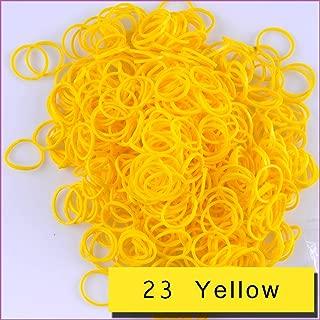 Kirinstores (TM) 600 PCS 24 Clips Bands Refills for Loom Rainbow Bracelet Dress Making (23 Yellow)