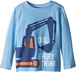 I Dig Everything Crusher T-Shirt Long Sleeve (Toddler)