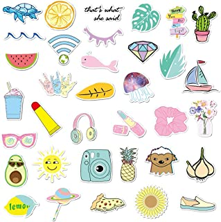 JVNVDS Stickers for Hydro Flask, Teens Students Girls Stuff Cute Waterproof Trendy Stickers for Water Bottles, Laptops, Phones,Travel, Luggages Extra Durable 100% Vinyl(35 Pack) 56DC