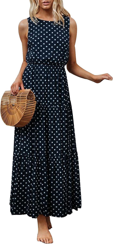 Joeoy Women's Basic Solid Ribbed Spaghetti Strap Bodycon Mini Cami Dress