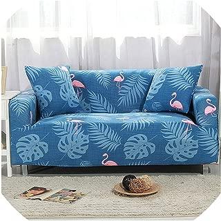 Leifun Elastic Sofa Cover Stretch Cubre Sofa Tightly Wrap All-Inclusive Slip-Resistant Couch Cover fundas de Sofa moderno 1/2/3/4seater,Color 19,4-Seater 235-300cm