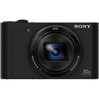 Sony DSCWX500B Appareils Photo Numérique, Capteur CMOS Exmor R, 18.2 Mpix, Zoom Optique 30x, Stabilisation 5 axes  Noir