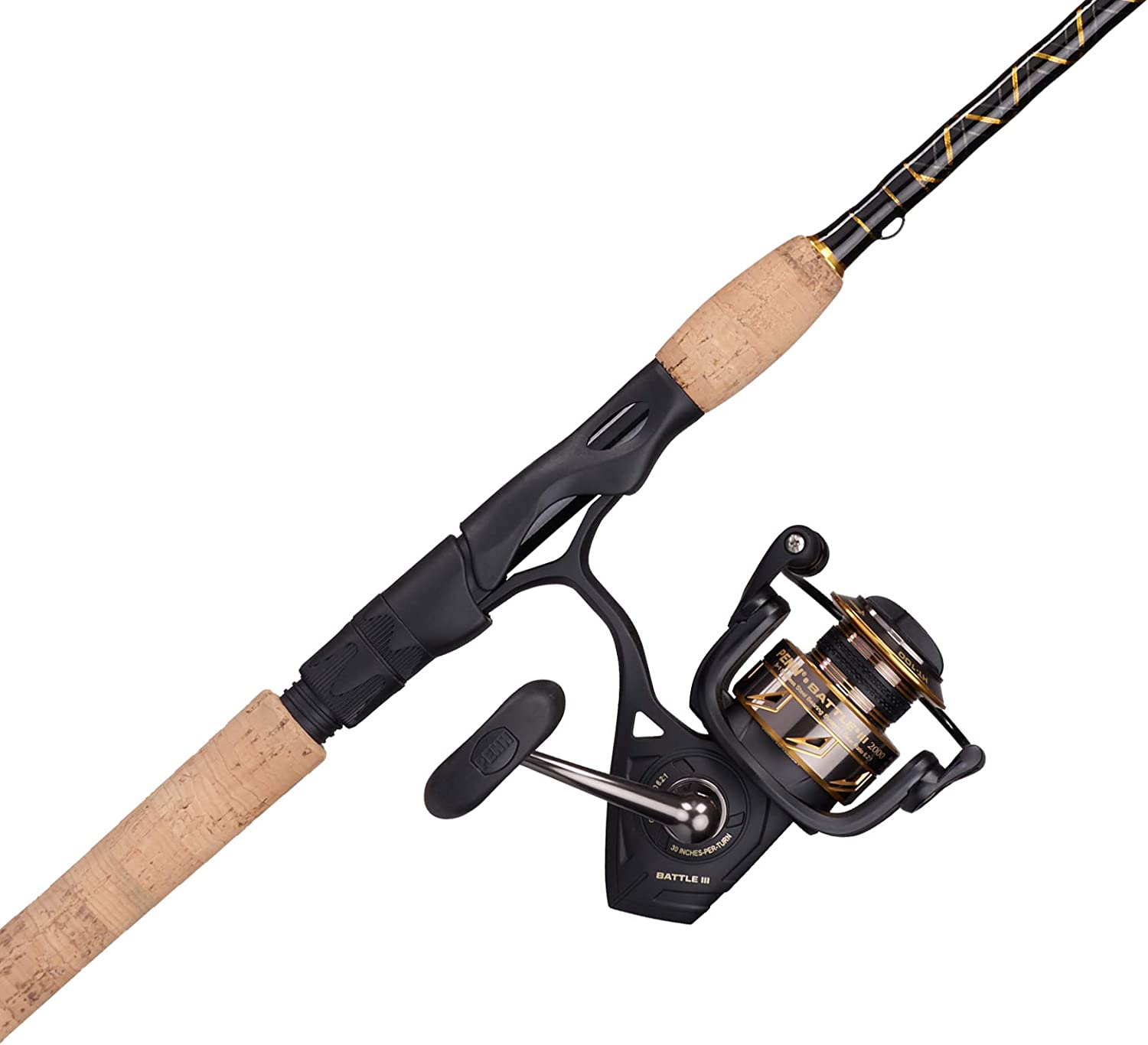 PENN Battle Spinning Reel and Some reservation Fishing Chicago Mall Gold Combo Black Rod 2000