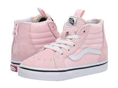 Vans Kids Sk8-Hi Zip (Infant/Toddler) (Blushing/Classic White) Girls Shoes