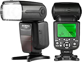Beschoi I-TTL Speedlite Flash Professional Camera Flash with Master/Slave Wireless Control, High Speed Sync Compatible with Nikon DSLR Camera