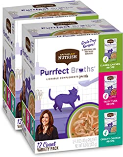 Rachael Ray Nutrish Purrfect Broths Wet Cat Food Complement, 1.4 Ounce Pouch (Pack of 24), Grain Free