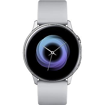 Samsung Galaxy Watch Active (40mm, GPS, Bluetooth, WiFi), - US Version with Warranty, Silver/Grey, 2.3