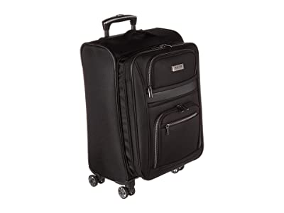 Kenneth Cole Reaction 20 Rugged Roamer Lightweight Softside Expandable 8-Wheel Carry-On Suitcase (Black) Luggage
