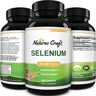 Pure Selenium Thyroid Support Supplement - Selenium 200mcg Antioxidant Supplement and Natural Immune Booster for Adults - ...