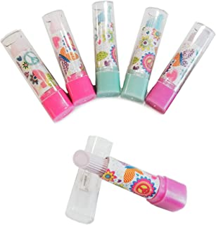 898405a81 Lipstick Erasers Pack of 6 Pencil erasers for School, Party Favors, Teacher  prizes