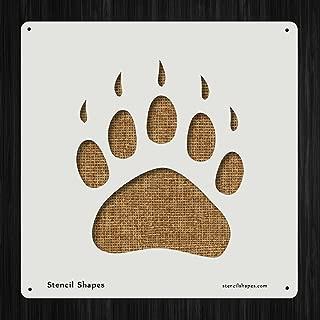 Paw Print Tracking Polar Bear Style 15409 DIY Plastic Stencil Acrylic Mylar Reusable