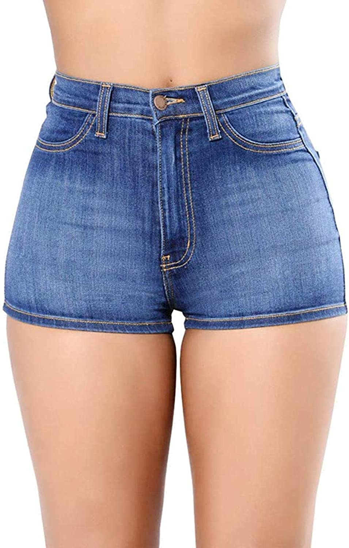 ZYUEER Women Slim Fit Denim Short PantsLadies High Waist Body Enhancin Casual Elasticity Jeans