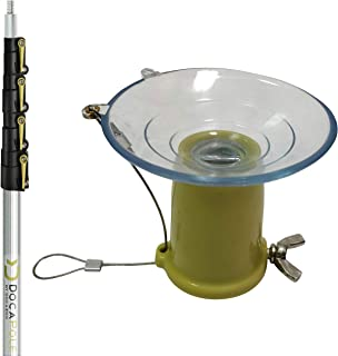6 – 24 Foot DocaPole Light Bulb Changer Pole | High Ceiling Light Bulb Changer Extension Pole | Extendable Light Bulb Changer for High Ceilings and Recessed Lights | Light Bulb Changer Telescopic Pole
