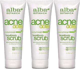 Alba Botanica Acnedote Face & Body Scrub 8 Oz (3 Pack) by Alba Botanica
