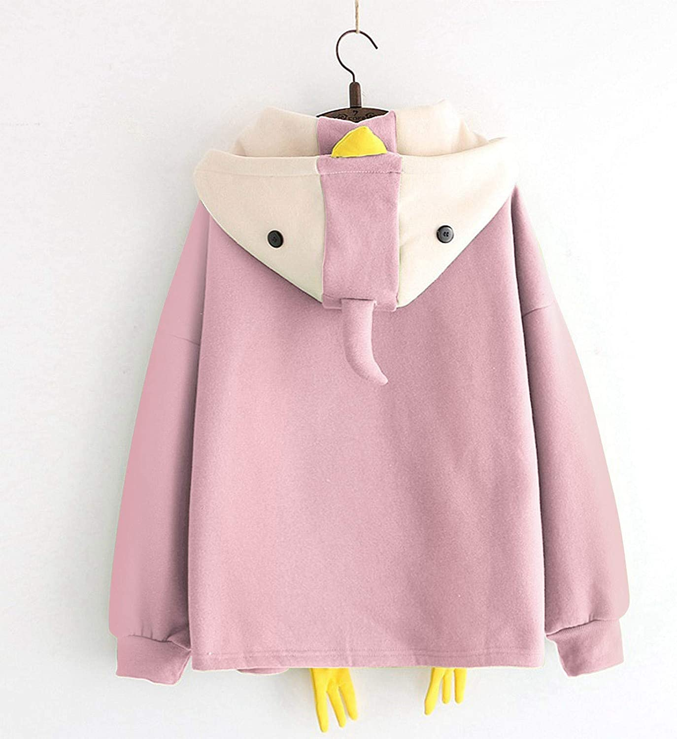 Oversized Hoodie for Women,Women's Casual Chicks Appearance Long Sleeve Sweatshirt Drawstring Pullover Tops