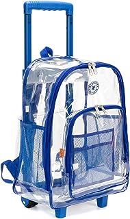 کیف های دستی کیف های سنگین کوله پشتی روشن و کیفی را ببینید از طریق کیف کاری سفر کیسه های کتاب شفاف مدرسه با چرخ های Royal Blue