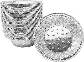 Fig & Leaf (120 Pack) Premium 5-Inch Pie Pans l 32 Gauge l Disposable Tart Pan Tins Plates Aluminum Foil for Baking Quiche