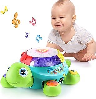 اسباب بازی لاک پشت موسیقی ، یادگیری انگلیسی و اسپانیایی ، اسباب بازی های الکترونیکی w / چراغ و صدا ، هدیه توسعه اولیه آموزش ، 6 ، 7 ، 8 ، 9 ، 10 ، 11 ، 12 ماه و بالاتر ، کودک ، نوزادان ، کودکان نو پا ، پسران ، دختران