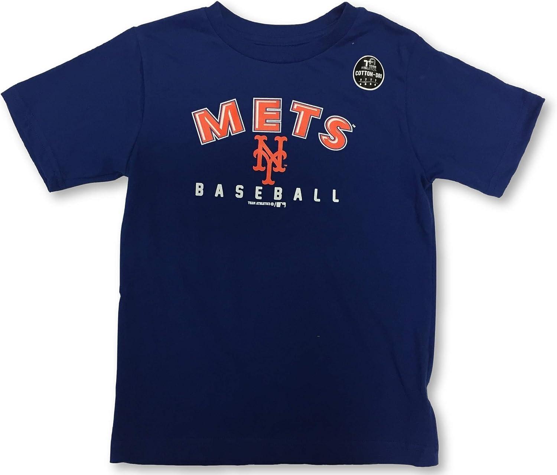 New York Mets Boys Toddler Dri Fit Crew Neck Jersey T-Shirt
