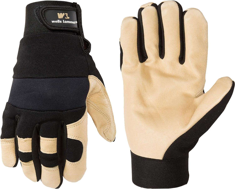 Wells Lamont Men's Hi-Dexterity Hybrid Leather Work Gloves Str New Bargain sales