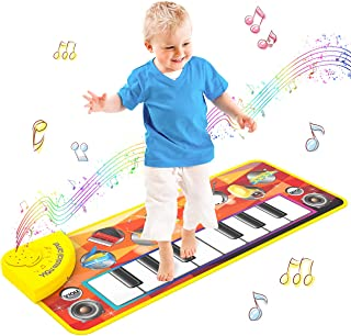 LET'S GO! Toys for 1-6 Year Old Boys Girls,Musical Mats Xmas Stocking Stuffer Gifts for 3-6 Year Old Girls Early Education Toys for 2-6 Year Old Boys Learning Toys for Toddlers Fun Toys for Age 1-6