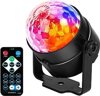 JYX Sound Activated Dicso Light met afstandsbediening, USB DJ Light, Disco Ball, Strobe Lamp 7 Modes Stage Par Light voor ...