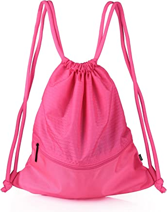 VASKER Large Drawstring Bag Water Resistant Gym Sackpack wit