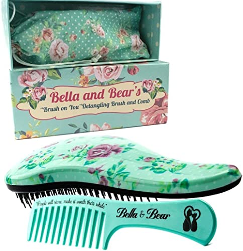 Detangling Hair Brush and Comb Set, the Best Detangler Brush for Wet or Dry Hair, no more tangles, no more tears by Bella & Bear product image