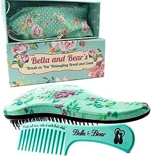 Detangling Hair Brush and Comb Set, the Best Detangler Brush for Wet or Dry Hair, no more tangles, no more tears by Bella & Bear
