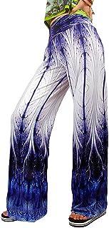 YiyiLai Women Wide Leg Leisure Palazzo Long Pants Sports Beach Trousers