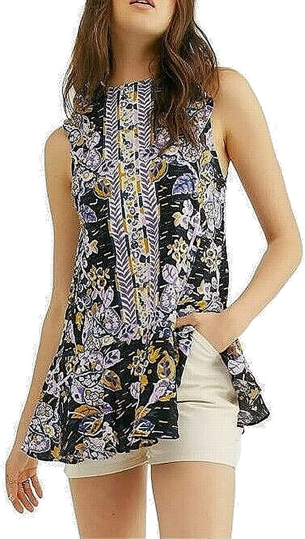 Free People Women's Summer in Tulum Popular brand 70% OFF Outlet the world Blend Linen Tunic Co Dark