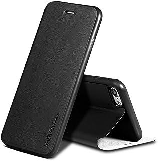 جراب ايفون 7 مصنوع من الجلد بدقة عالية ماركة x-level محفظة ايفون باللون الاسود Apple Iphone 7 x-level