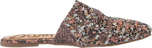Taupe/Cameo Blush/Off-White Woven Snake Print Leather