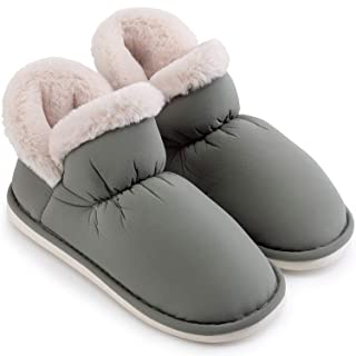 posee Neige Warm Cozy Bootie Slippers for Women and Men, Warm Winter Slippers Ankle Boot Dirt & Stain Resistant, Non Slip House Slipper Bootie, Fashionable Boot Slippers Indoor