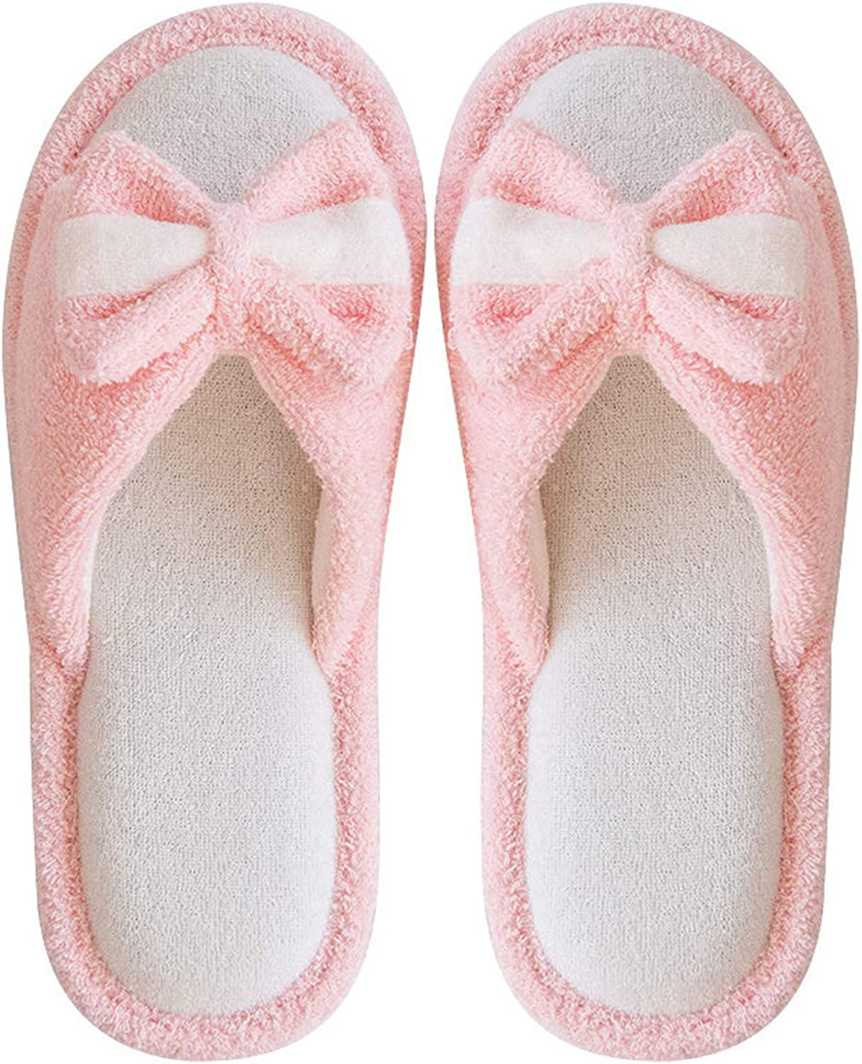 Women Bow Cute Home shoes Non-Slip Mute Slippers Indoor Slippers Home shoes