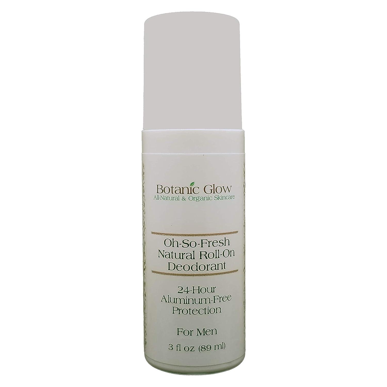 Botanic Glow Oh-So-Fresh All-Natural Roll-On Men Alternative dealer Deodorant 3 Sale item for