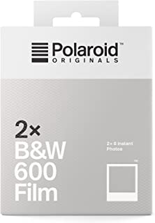 Polaroid Originals 4842 - Película N&B para 600 (Paquete Doble) Marco Blanco