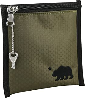 Sponsored Ad - Cali Crusher 100% Smell Proof Pouch w/Locking Key (6in x 6in) (Olive Green)