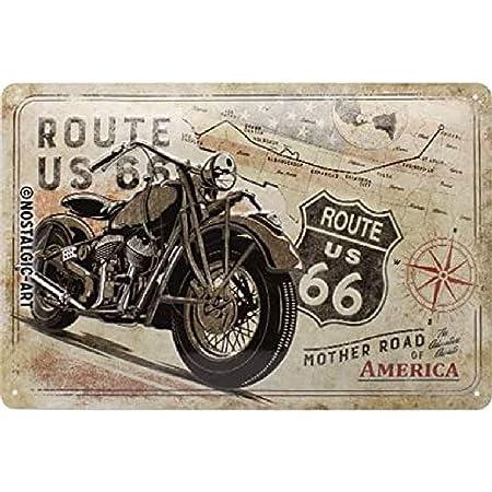 Nostalgic Art Retro Blechschild Route 66 Bike Map Geschenk Idee Für Usa Fans Aus