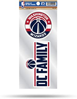 4 x 4 Black WinCraft NBA Washington Wizards 21763011 Perfect Cut Color Decal