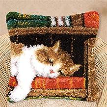 Borduurwerk Latch Hook Kits DIY Kat Hond Patroon Kussen Maken Kits Kussensloop Borduurwerk Kruis Steek Kunst Craft voor Vo...