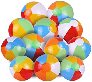 "SYZ 12"" Beach Balls Bulk - Inflatable Swimming Pool Toys for Kids Birthday Party Supplies Favors Luau Decorations - B..."