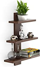 Amazing Shoppee Wall Shelves Shelf for Living Room Book Shelfs (3 Shelves) (Standard, Brown)