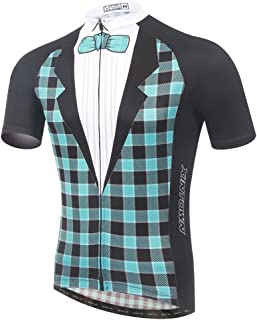 Summer Fashion TeyxoCo Men Tuxedo Cycling Gel Pad Jersey Set