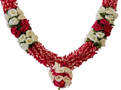 Daedal Crafters- Rajanigandha Bridal Garland with Pink and White Rose DC137P