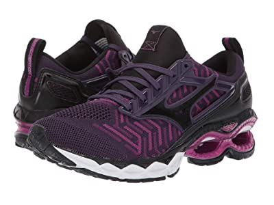 Mizuno Wave Creation 20 Knit (Plum/Black) Women