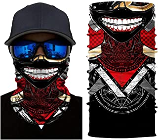3D Tokyo Ghoul Tube Neck Face Scarf Lower Half Face Mask Motorcycle Bicycle Shield Sun Air Soft Outdoor Biker Riding Masks No.36